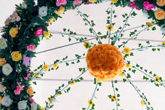 Flower decoration in the form of a ring Royalty Free Stock Photo