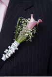Flower decoration for groom Stock Photo