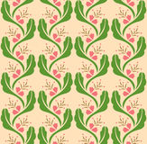 Flower Decoration Pattern 1 Royalty Free Stock Photography