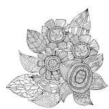 Flower decoration pattern Royalty Free Stock Photos