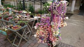 Flower Decoration At Spring Street Market stock photography