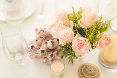 Flower decoration on a table Royalty Free Stock Images