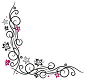 Flower decoration. Tribal and tattoo style Stock Image