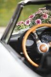 Flower decoration wedding car Stock Image