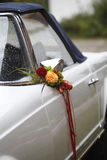 Flower decoration wedding car Royalty Free Stock Photography