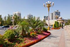 Flower decoration on Xi Daqiao Bridge Urumqi Xinjiang China royalty free stock images