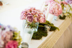 Flower decorations for holidays and wedding din Royalty Free Stock Photos