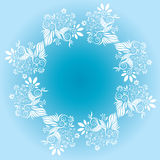 Flower decorative design frame vector Royalty Free Stock Photos