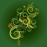 Flower decorative design vector Stock Photo