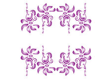 Flower decorative elements Stock Images