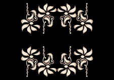 Flower Decorative Elements In Contrast Stock Photography