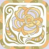 Flower decorative. Folkloric background Royalty Free Stock Image