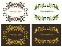 Flower decorative frames set Royalty Free Stock Image