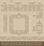 Flower Decorative Ornaments Building Kit - Tan Royalty Free Stock Photography