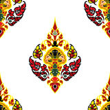 Flower decorative pattern. Flower  decorative pattern in traditional Thai style Royalty Free Stock Photo
