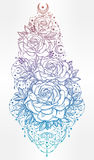 Flower decorative rose artwork. Stock Photo