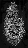 Flower decorative rose artwork. Stock Photos