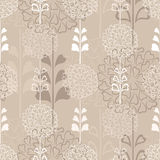 Flower decorative seamless background in sepia Royalty Free Stock Photo