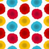 Flower decorative seamless pattern. Vector texture with flowers on white background. Design for wrapping paper, wallpaper, fabric. Stock Images