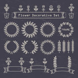 Flower decorative set Stock Image