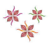 Flower decorative vector design Royalty Free Stock Photos