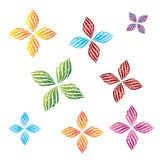 Flower decorative vector design Stock Photos