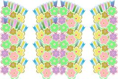 Flower decoratively romantically seamless. Abstraction illustration Stock Photos
