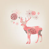 Flower deer Royalty Free Stock Images