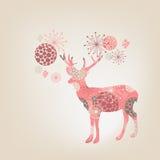 Flower deer Royalty Free Stock Images