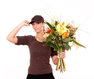 Flower delivery Royalty Free Stock Photo