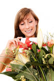 Flower delivery Stock Images