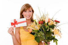 Flower delivery Stock Photography