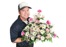 Flower Delivery for Mothers Day Royalty Free Stock Image