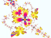 Flower Design. A lovely computer-generated flower background made up of fractal patterns. The pattern is repeated in varying sizes to create an asthetically Royalty Free Illustration