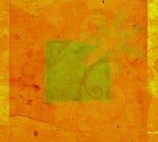 Flower design. Framed flower on grungy background vector illustration