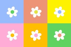Flower Design. Simple and colourful flower pattern design Royalty Free Stock Images