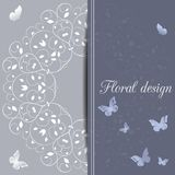 Flower design card Stock Photos