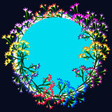 Flower design circle blue colorful Royalty Free Stock Photo