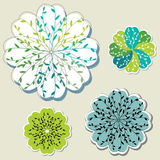 Flower Design Elements Stock Images