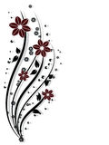 Flower design elements vector Royalty Free Stock Photography