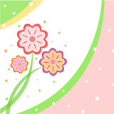 Flower design for greeting card Royalty Free Stock Image