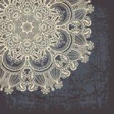 Flower design on grunge background Stock Image