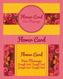 Flower design horizontal business card, name card Royalty Free Stock Photo