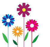 Flower design illustration on white background Royalty Free Stock Photo
