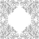 Flower design lace frame Stock Images