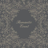 Flower design lace frame Royalty Free Stock Image