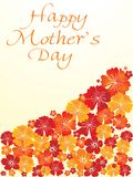 Flower design mother day card Royalty Free Stock Photo
