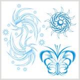 Flower design for tattoo. Vector illustration. Stock Photography