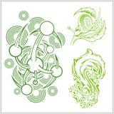 Flower design for tattoo. Vector illustration. Stock Photo