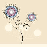 Flower design vector Royalty Free Stock Image